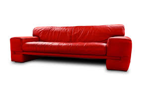Fake Leather Sofa by Fancy Red Leather Sofa With High Backrest And Arms Plus Chrome