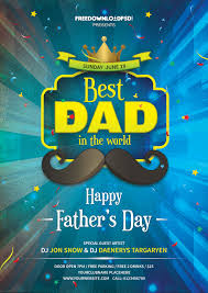 download fathers day party flyer freedownloadpsd com