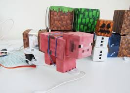 how to write on paper in minecraft rule your minecraft room with littlebits we had some ice blocks we placed the bar graph bit with its leds inside the box it created an appealing eerie look to our minecraft