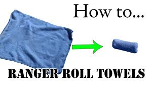 army packing hack unique way to fold towels military basic