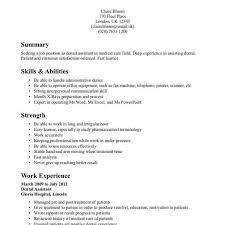 dental resume template dental assistant student resume student