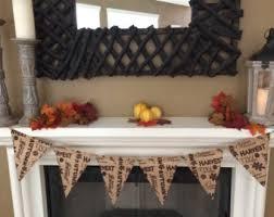 thanksgiving burlap banner fall burlap banner etsy