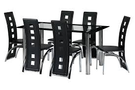 black and silver dining room set classy design stylish design