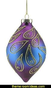 Purple Gold Christmas Decorations Decorating Theme Bedrooms Maries Manor Peacock Color Christmas