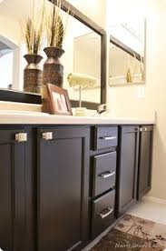bathroom cabinet paint ideas sloan chocolate brown master bathroom cabinet makeover