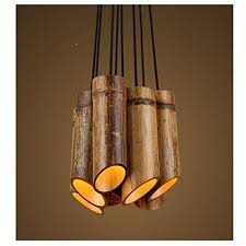 Bamboo Ceiling Light Dmmss Modern Bamboo Chandeliers Wood Downlights Ceiling