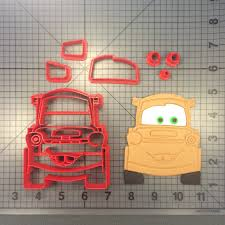cars characters mater cars tow mater 100 cookie cutter set