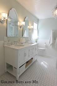 White Subway Tile Bathroom by Amusing Design Ideas Using Silver Faucets From The 90 Degree And