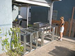 outdoor kitchen island plans resplendent outdoor kitchen frame plans with minimalist prefab