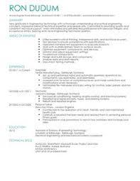 cv template engineering jobs