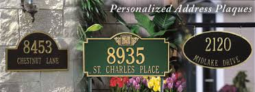 address plaques personalized address signs house number signs