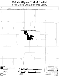 Map Of South Dakota Counties Federal Register Endangered And Threatened Wildlife And Plants
