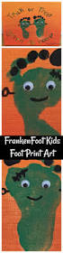 frankenfoot kids foot print art halloween craft halloween kids