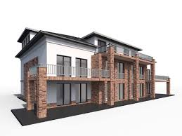 3d model modern city villa cgtrader