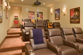 Projector Media Room - impressive vintage popcorn machine in home theater contemporary