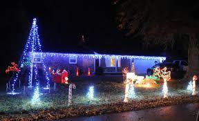 christmas lights on greenbrier and music too