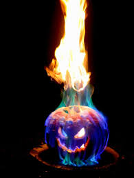 halloween pumpkin head jack lantern with burning candles over black background flamethrower jack o lantern easy and oh so cool cabin