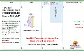 gate fold brochure template parallel fold brochure template parallel fold