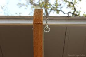 hanging outdoor string lights how to hang outdoor string lights domestic imperfection