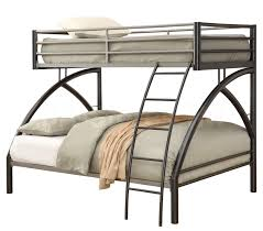 Gun Metal Twin Over Full Bunk Bed   Furniture Store - Full and twin bunk bed