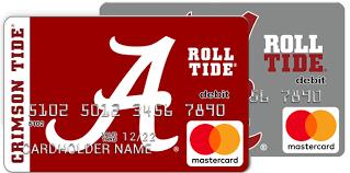 prepaid mastercards alabama crimson tide fancard prepaid mastercard