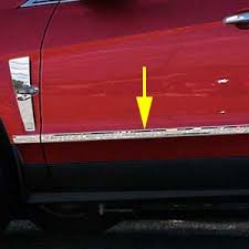 accessories for cadillac srx cadillac srx chrome door molding insert trim 2010 2011 2012