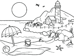 beach coloring pages preschool summer color pages dongdao me