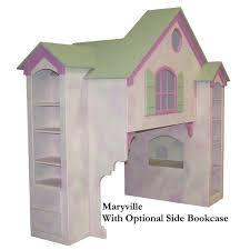 Dollhouse Bed For Girls by Maryville Dollhouse Loft Bed Twin Over Full