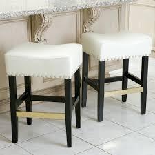 bar stools modern design rectangle shape cream color wooden