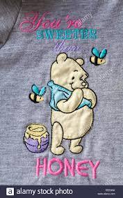 detail winnie pooh character pot honey dressing