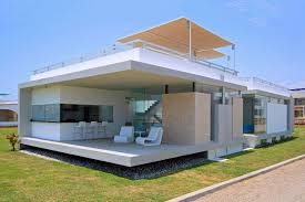 magnificent modern beach house design with open bar lounge room