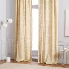 Jacquard Curtain Bark Texture Jacquard Curtain Platinum 48 U0027x108 U0027 By West Elm