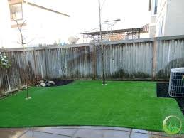 Backyard Concrete Patio Backyard With A Concrete Patio In Fairfield California