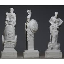 greek gods statues hephaestus ares goddess ατηενα set of 3 greek gods statue