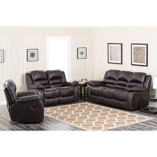 Recline Sofa by Abbyson Anderson Leather Reclining Sofa Set Hayneedle