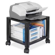 Under Desk Laptop Shelf Kantek Mobile Printer Stand Two Shelf 17w X 14d X 18h Office