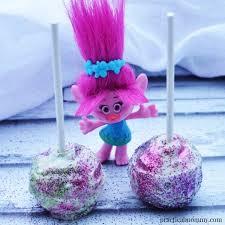 to make glitter cake pops like a troll