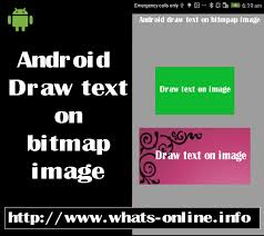 android bitmap how to write text on bitmap image in android programmatically