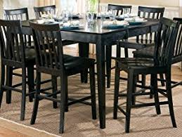 Amazoncom Contemporary Style Black Counter Height Dining Table - Counter height dining table in black