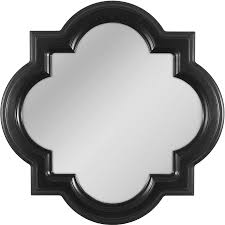shop allen roth black wall mirror at lowes com