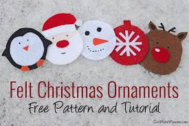 felt christmas tree ornament patterns free pattern and tutorial