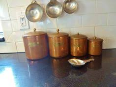 copper kitchen canister sets vintage retro ballonoff rustic americana nesting tin kitchen