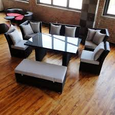 Grey Wicker Patio Furniture - unique dining set to sectional sofa now available in black wicker
