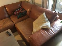 anibis canapé canapé d angle en cuir marron sofas canapés d angle