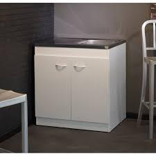 meuble d evier cuisine meuble sous évier cosmos blanc l80 cm achat vente meuble sous