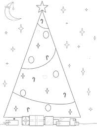 christmas tree coloring artistic education tools pre