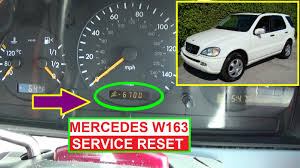 mercedes w163 service reset oil life reset on ml320 ml430 ml350