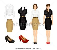 vector illustration office uniform formal shoes stock vector