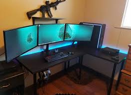 Gaming Pc Desks Collection In Gaming Pc Desk Setup Gaming Pc Desk Setup Interior