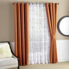 Orange Thermal Curtains Orange Tier Curtains Curtains Sears
